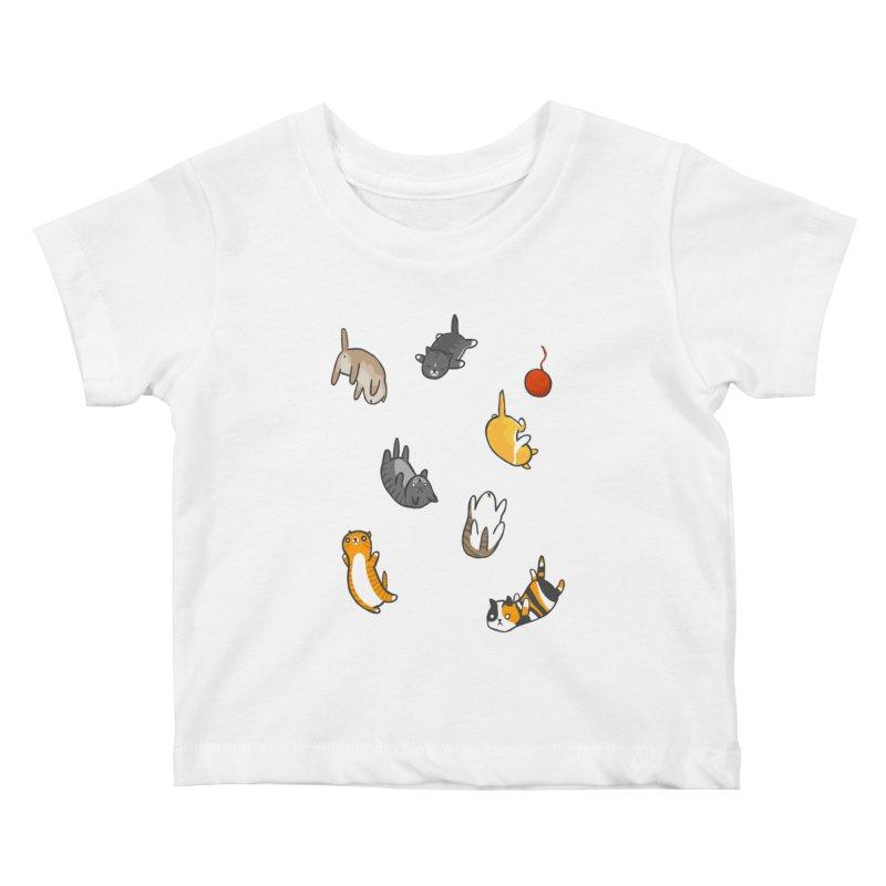 Kitten Rain Kids Baby T-Shirt by Damien Mason's Artist Shop