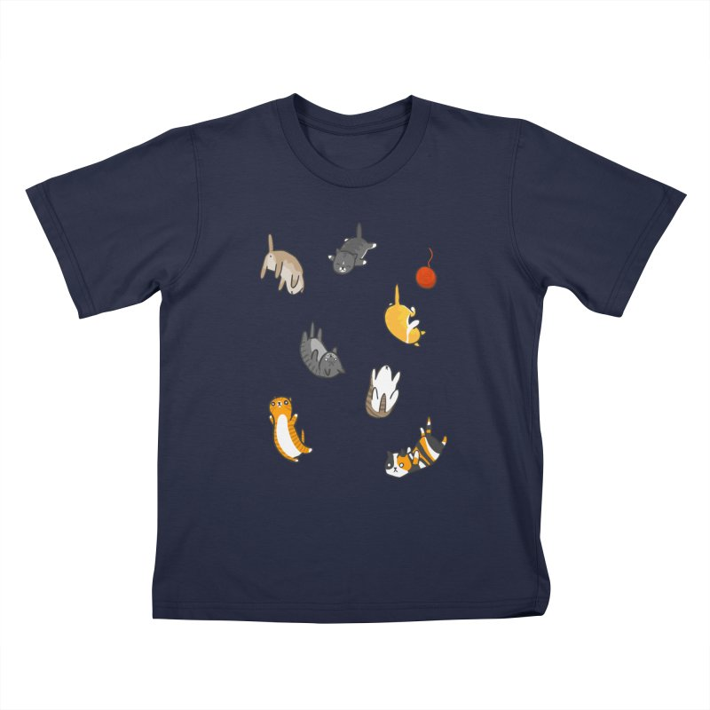 Kitten Rain Kids T-Shirt by Damien Mason's Artist Shop