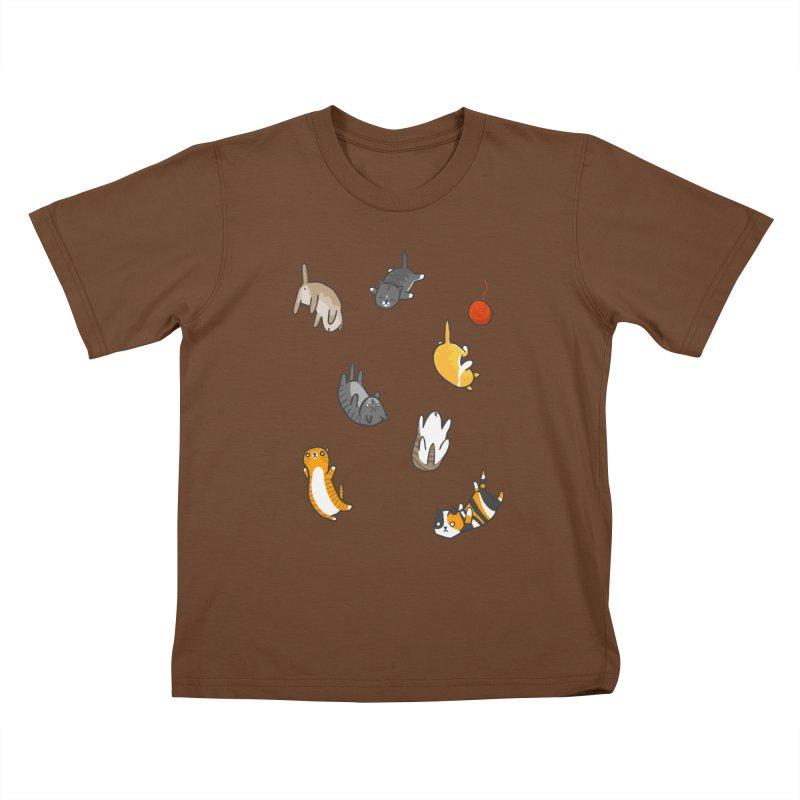 Kitten Rain Kids T-Shirt by Damien Mason's Artist Shop