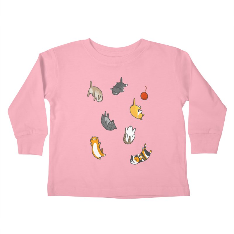 Kitten Rain Kids Toddler Longsleeve T-Shirt by Damien Mason's Artist Shop