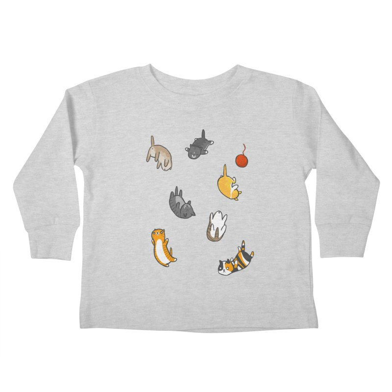Kitten Rain Kids Toddler Longsleeve T-Shirt by Damien Mason's Artist Shop