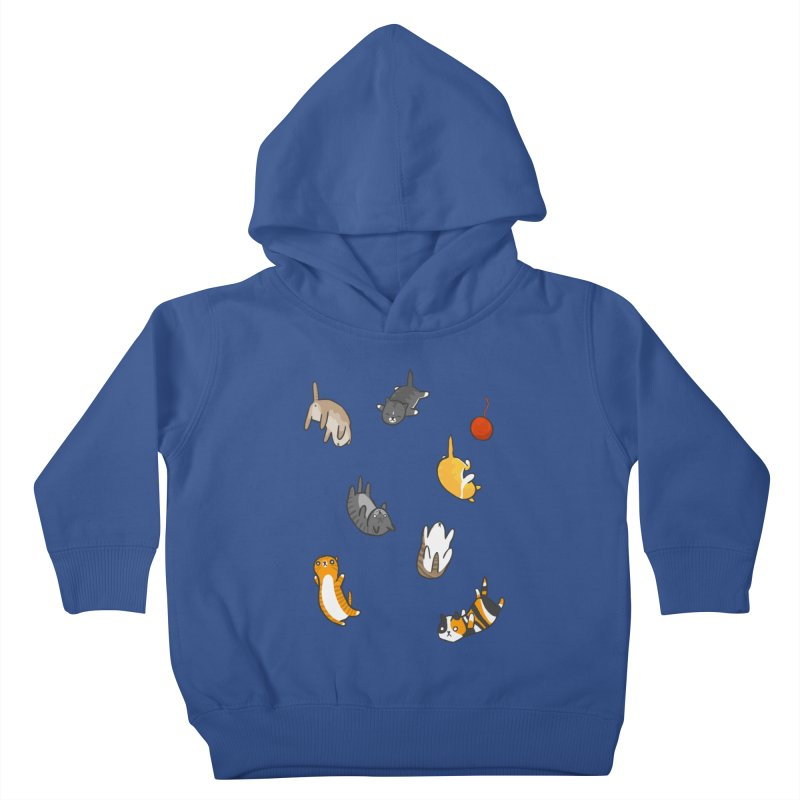 Kitten Rain Kids Toddler Pullover Hoody by Damien Mason's Artist Shop