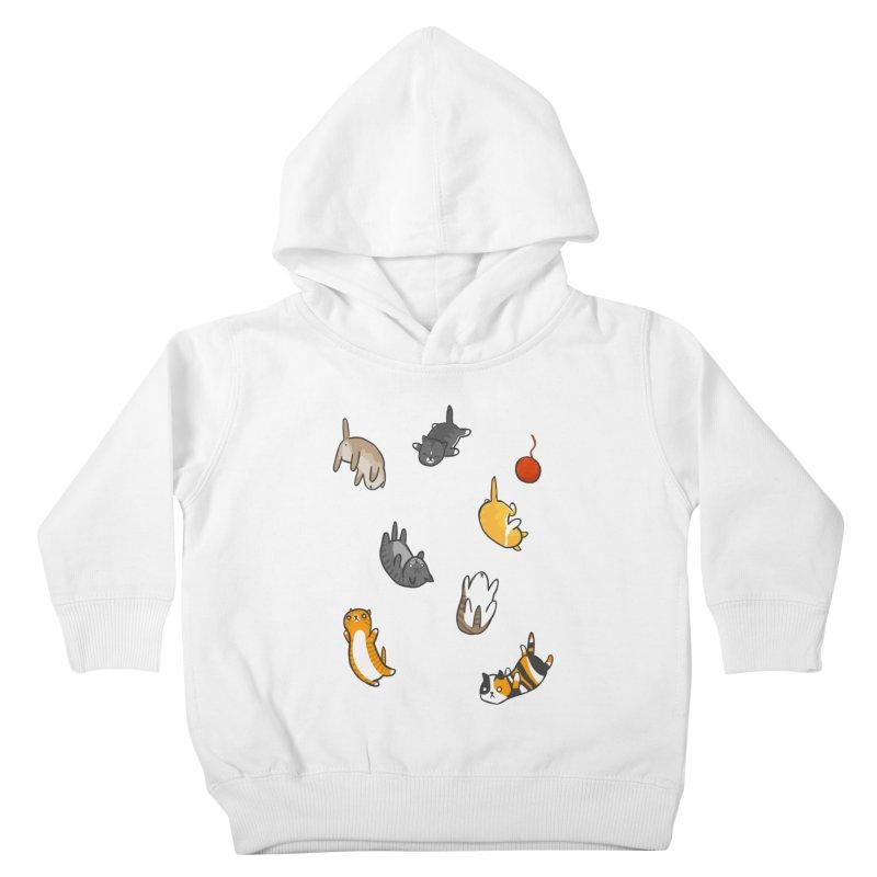 Kitten Rain Kids Toddler Pullover Hoody by Damien Mason's Artist Shop