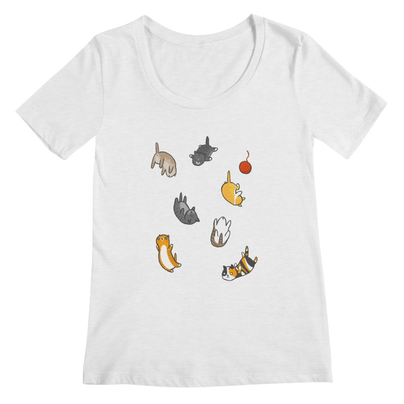 Kitten Rain Women's Scoop Neck by Damien Mason's Artist Shop