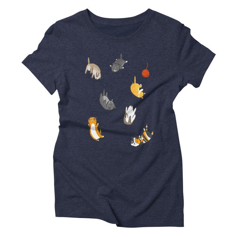 Kitten Rain Women's Triblend T-Shirt by Damien Mason's Artist Shop
