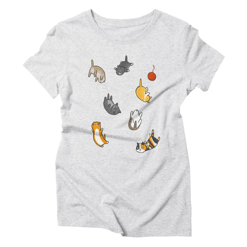 Kitten Rain Women's Triblend T-Shirt by Damien Mason's Artist Shop