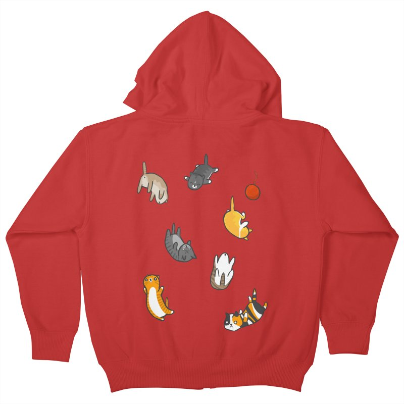 Kitten Rain Kids Zip-Up Hoody by Damien Mason's Artist Shop