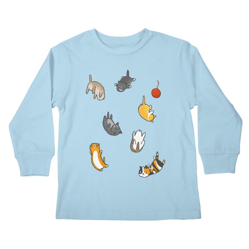 Kitten Rain Kids Longsleeve T-Shirt by Damien Mason's Artist Shop