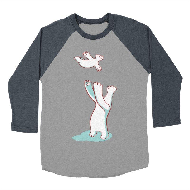 Bears Give The Best Hugs Women's Baseball Triblend Longsleeve T-Shirt by Damien Mason's Artist Shop