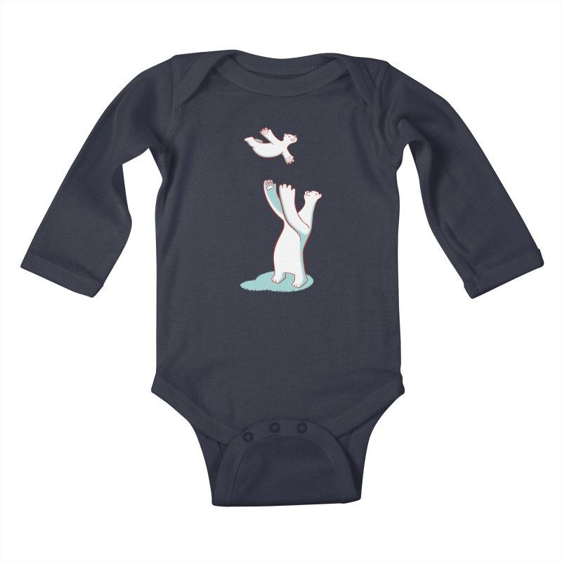 Bears Give The Best Hugs Kids Baby Longsleeve Bodysuit by Damien Mason's Artist Shop