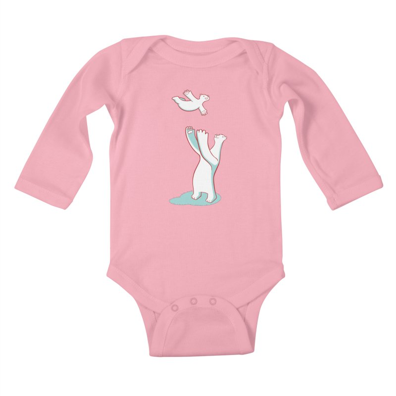 Bears Give The Best Hugs Kids Baby Longsleeve Bodysuit by Damien Mason's Artist Shop