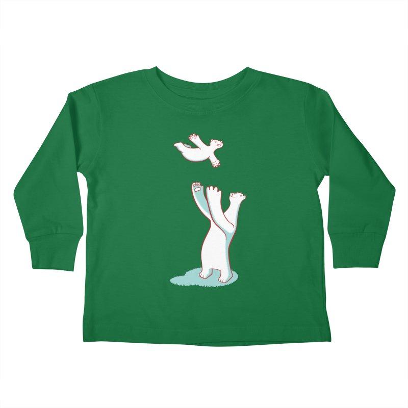 Bears Give The Best Hugs Kids Toddler Longsleeve T-Shirt by Damien Mason's Artist Shop