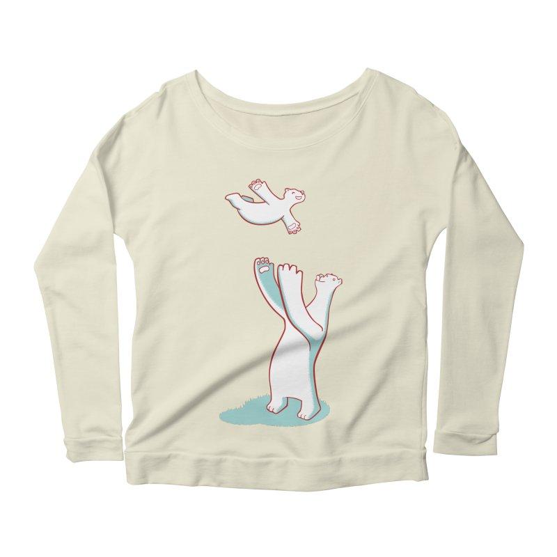 Bears Give The Best Hugs Women's Scoop Neck Longsleeve T-Shirt by Damien Mason's Artist Shop