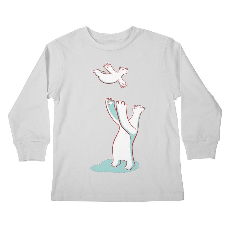 Bears Give The Best Hugs Kids Longsleeve T-Shirt by Damien Mason's Artist Shop