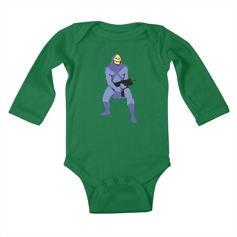The Fall of Eternia Kids Baby Longsleeve Bodysuit by Damien Mason's Artist Shop