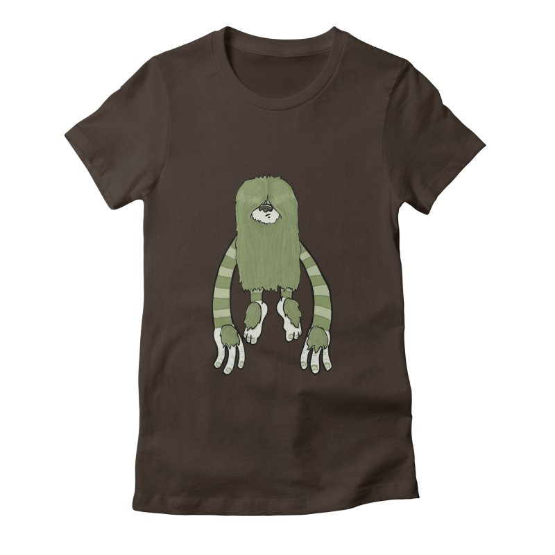 Clive Women's Fitted T-Shirt by Damien Mason's Artist Shop