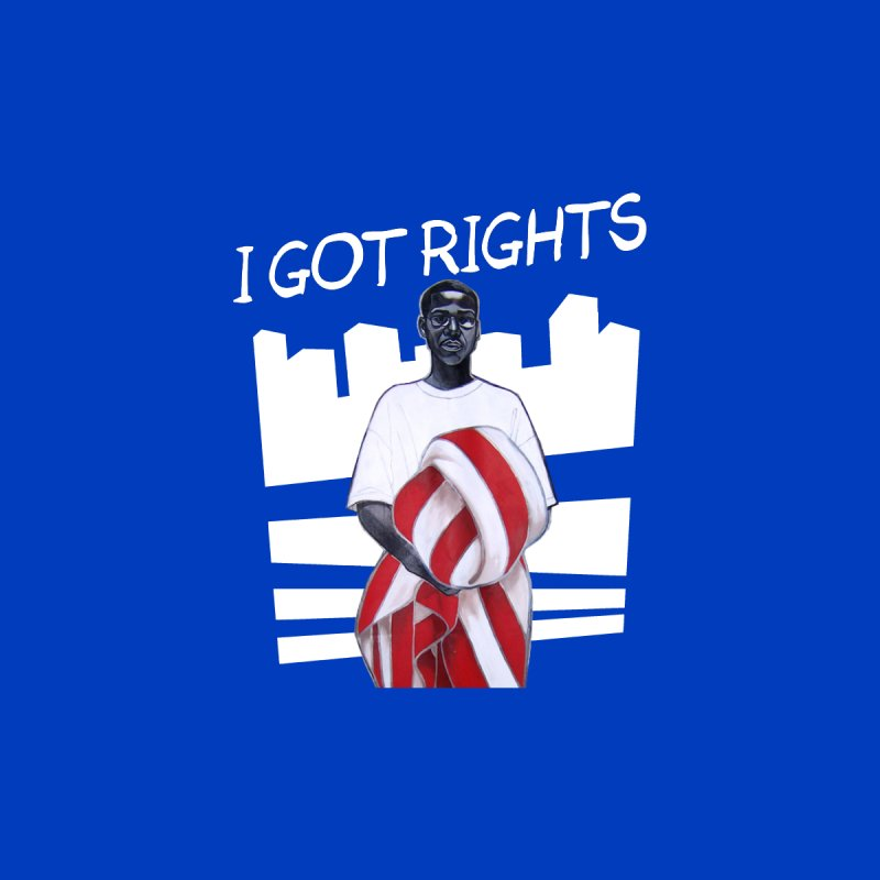 I Got Rights! (Blue) Men's T-Shirt by Damon Lamar Reed Images