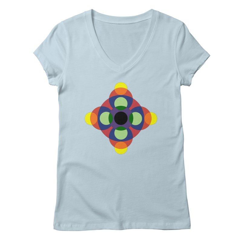Spin Cycle Women's V-Neck by Damon Davis's Shop