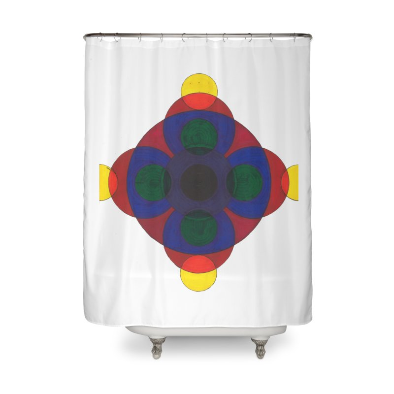 Spin Cycle Home Shower Curtain by Damon Davis's Shop