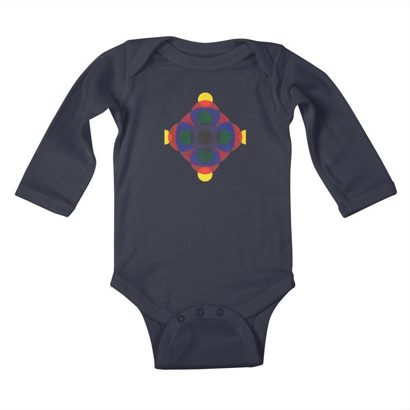 Spin Cycle Kids Baby Longsleeve Bodysuit by Damon Davis's Shop