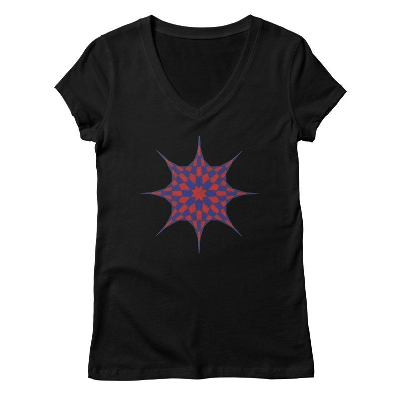 Red Dwarf Star Women's V-Neck by Damon Davis's Shop