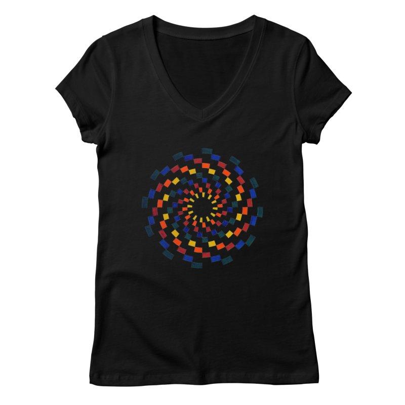 Color Vortex Women's V-Neck by Damon Davis's Shop