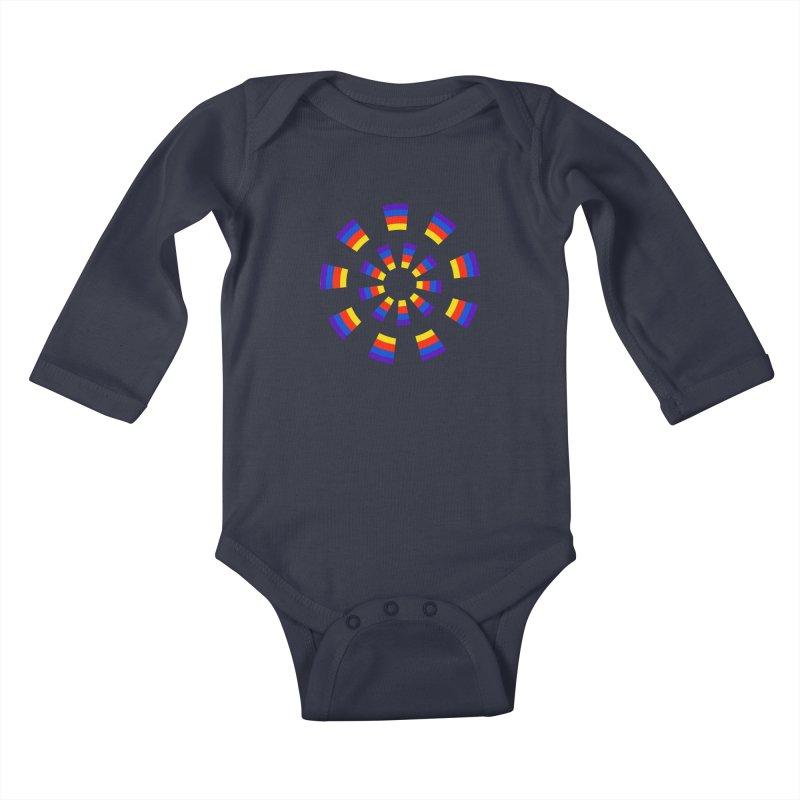 Midnight Sun Kids Baby Longsleeve Bodysuit by Damon Davis's Shop