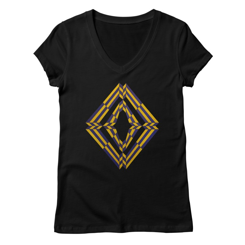 Star Crossed Women's V-Neck by Damon Davis's Shop
