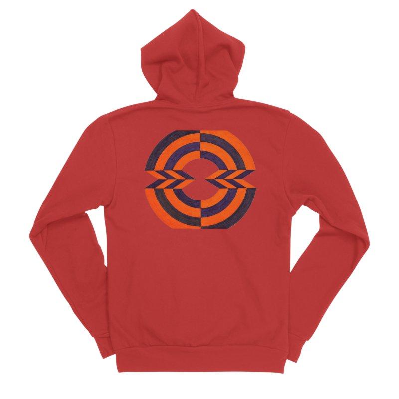 Orange Plum Men's Zip-Up Hoody by Damon Davis's Shop