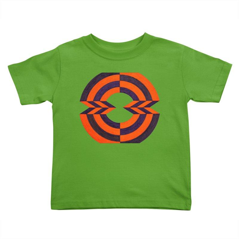 Orange Plum Kids Toddler T-Shirt by Damon Davis's Shop