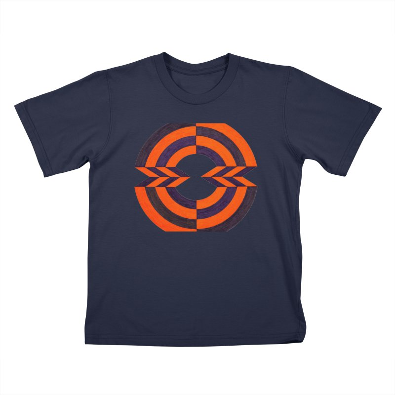 Orange Plum Kids T-Shirt by Damon Davis's Shop