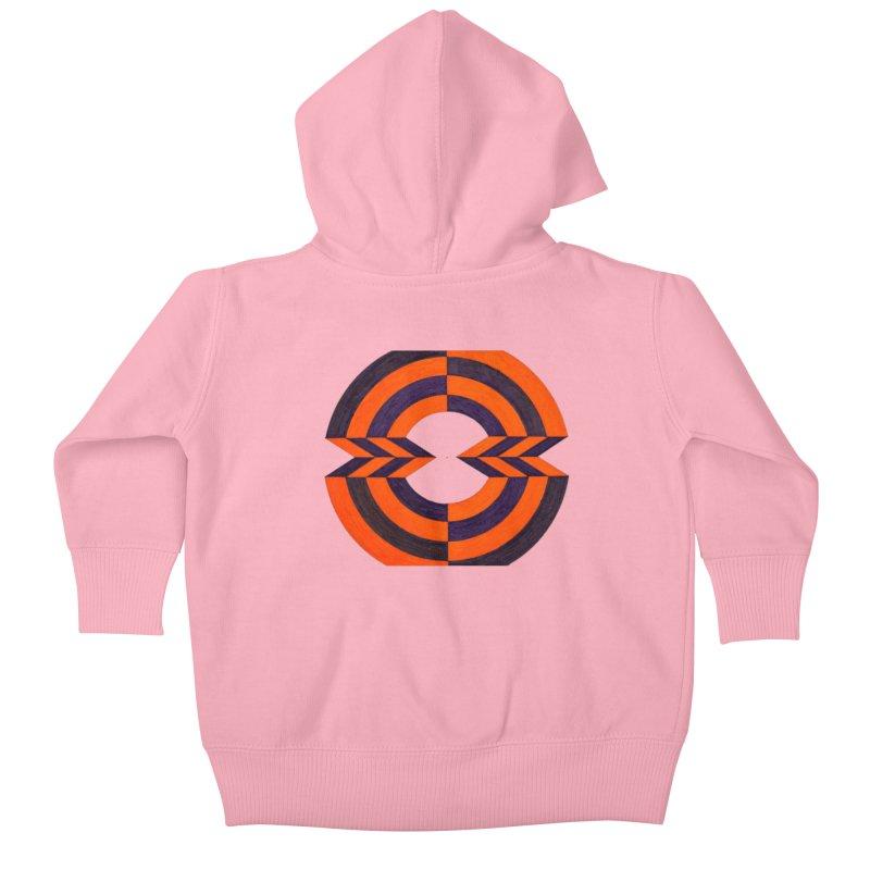 Orange Plum Kids Baby Zip-Up Hoody by Damon Davis's Shop