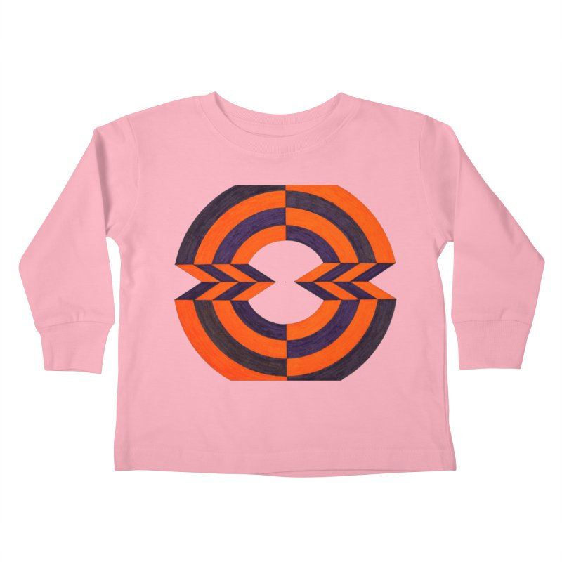 Orange Plum Kids Toddler Longsleeve T-Shirt by Damon Davis's Shop