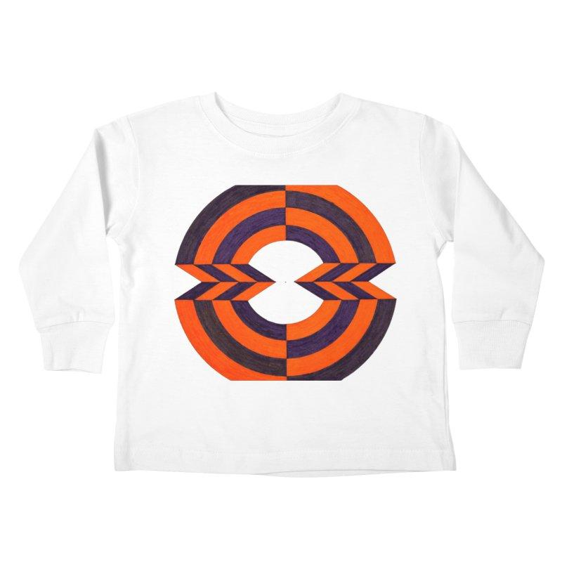 Orange Plum Kids Toddler Longsleeve T-Shirt by Damon Davis's Shop