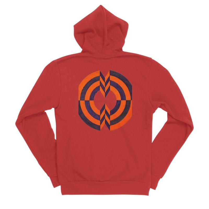 Plum Orange Men's Zip-Up Hoody by Damon Davis's Shop