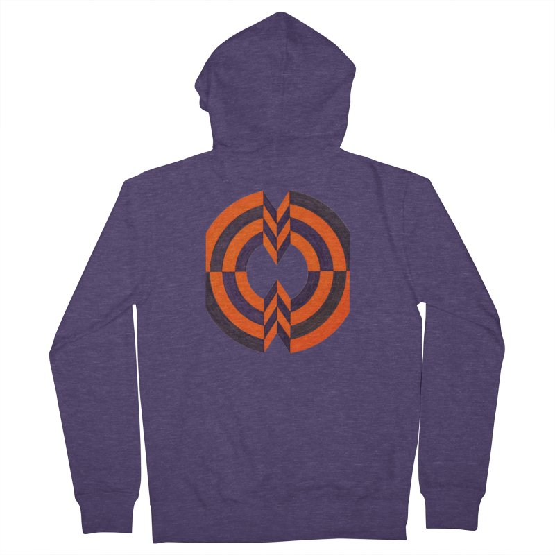 Plum Orange Men's Zip-Up Hoody by Damon Davis's Shop