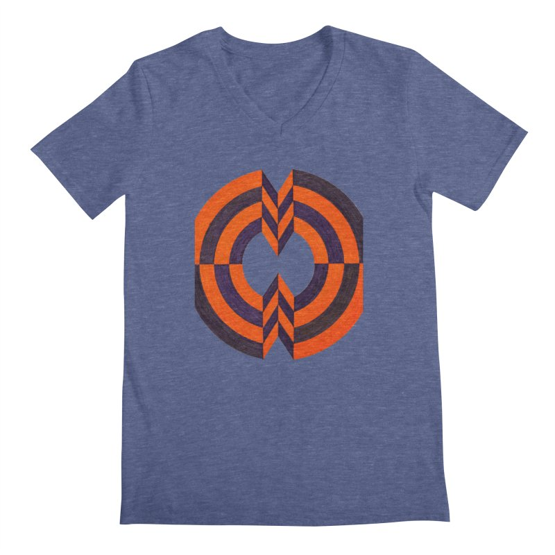 Plum Orange Men's V-Neck by Damon Davis's Shop