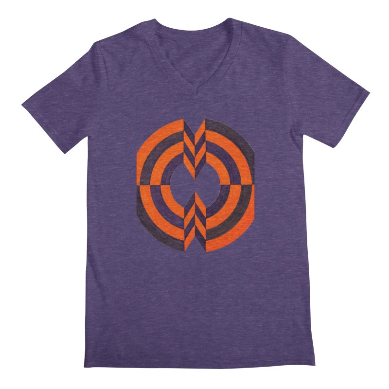 Plum Orange Men's V-Neck by Damon Davis's Shop