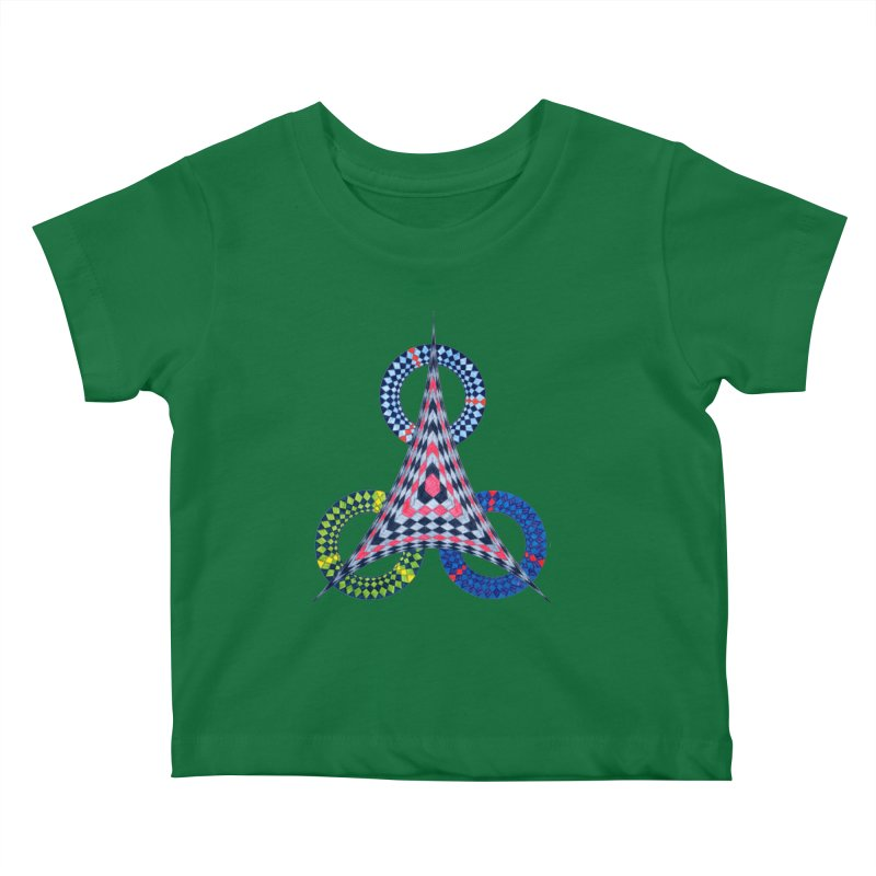 Triple Shot Kids Baby T-Shirt by Damon Davis's Shop
