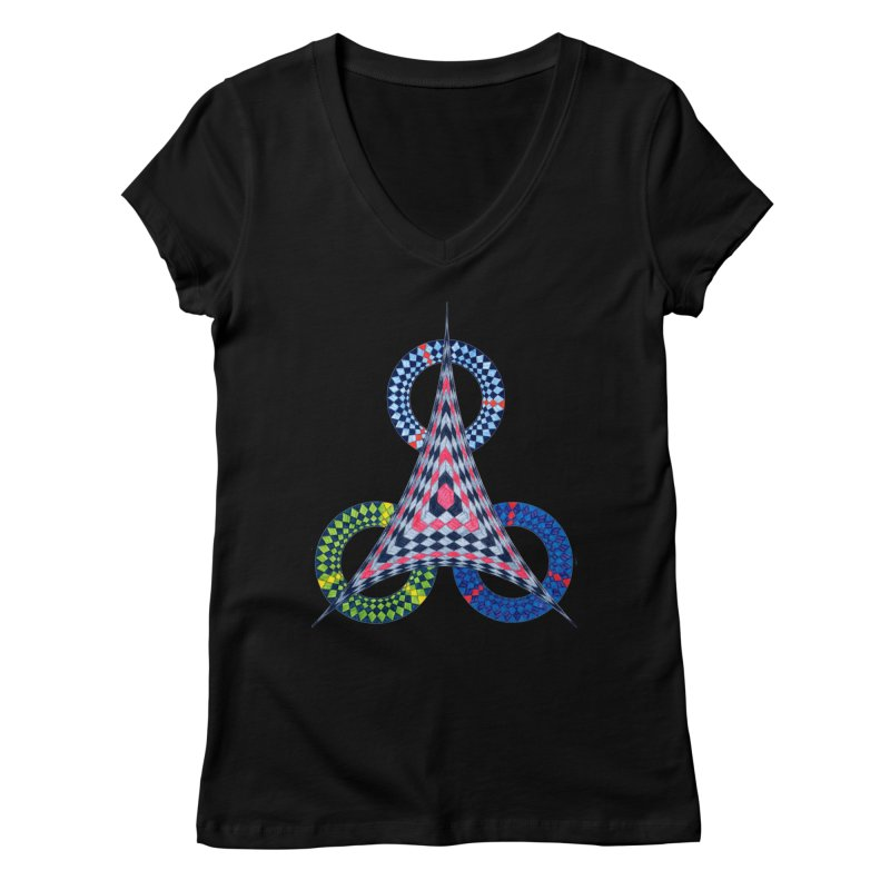 Triple Shot Women's V-Neck by Damon Davis's Shop