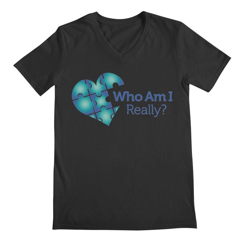 Who Am I Really Men's V-Neck by Damon Davis's Shop