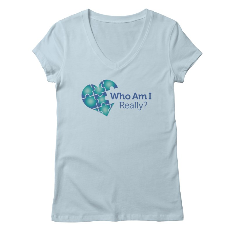 Who Am I Really Women's V-Neck by Damon Davis's Shop
