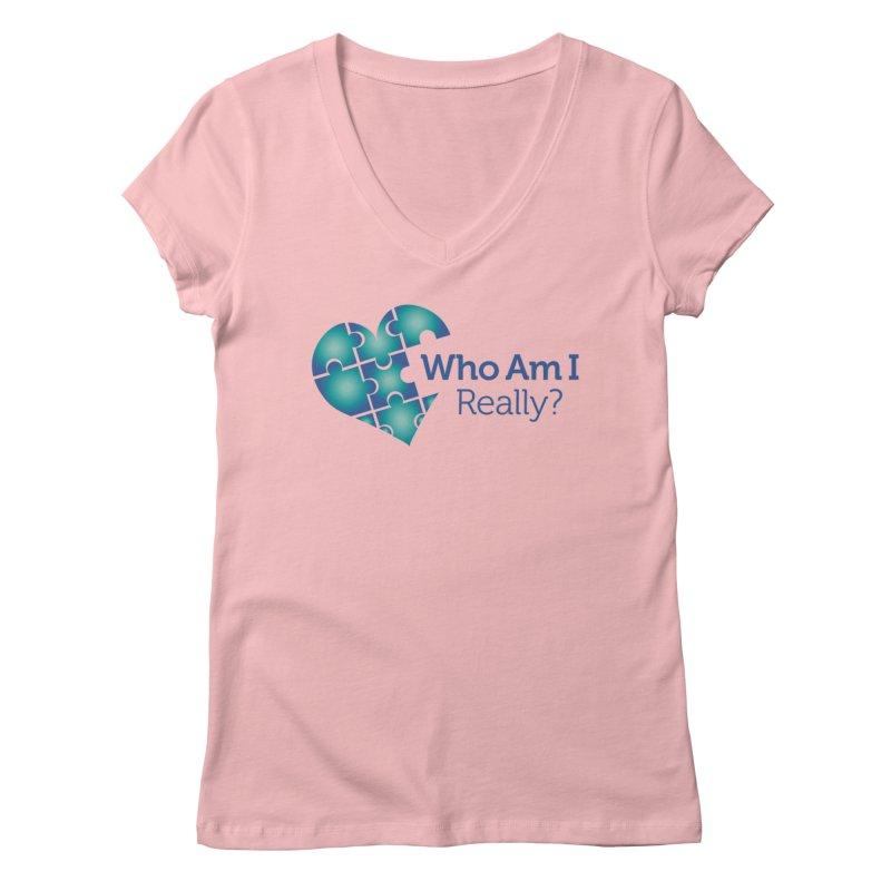 Who Am I Really Women's V-Neck by Damon Davis's Shop