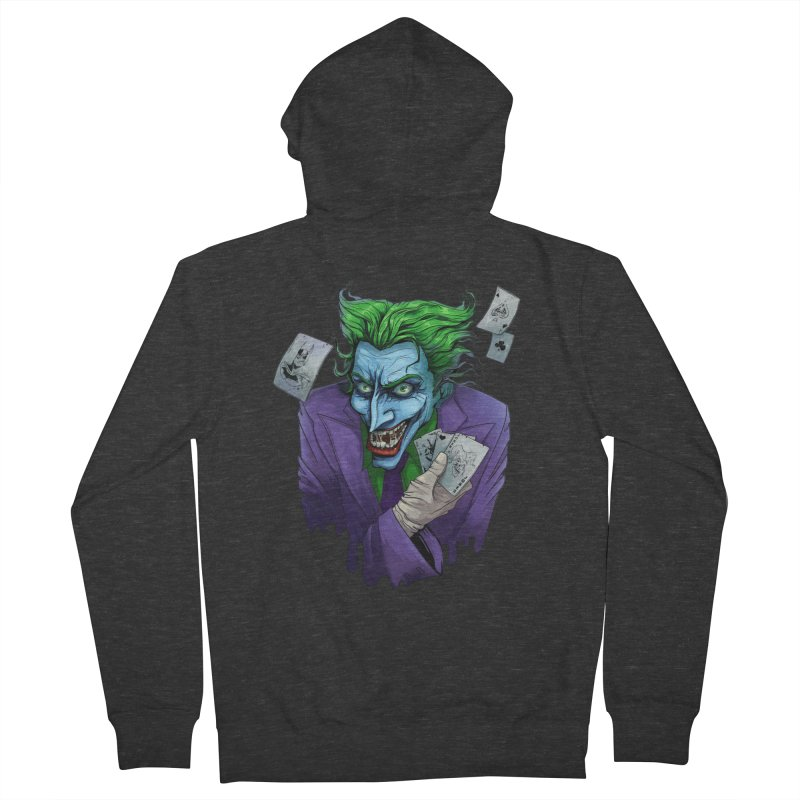 Joker Women's French Terry Zip-Up Hoody by Diana's Artist Shop