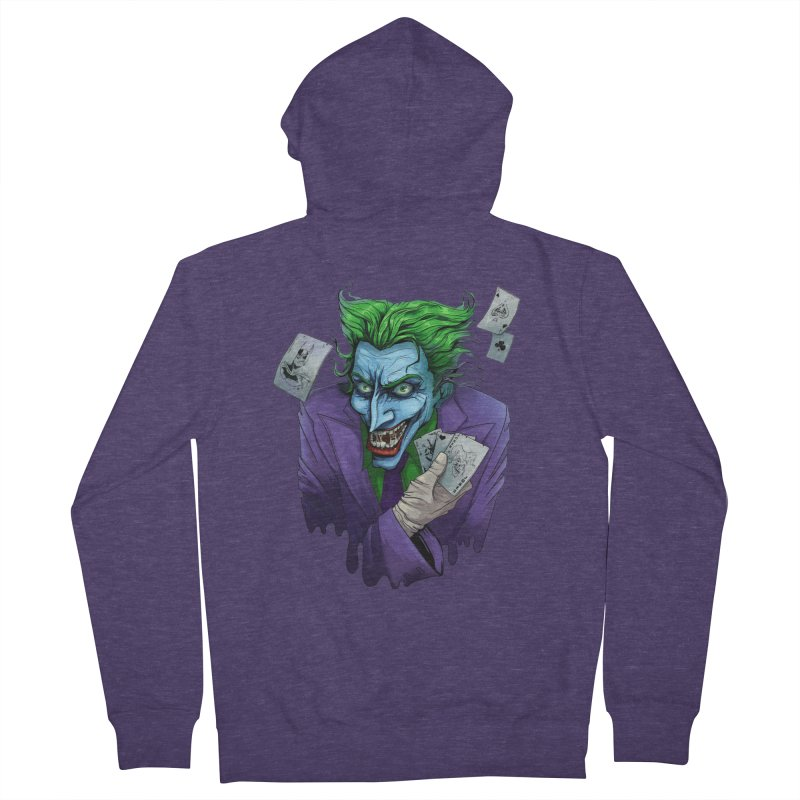Joker Men's French Terry Zip-Up Hoody by Diana's Artist Shop