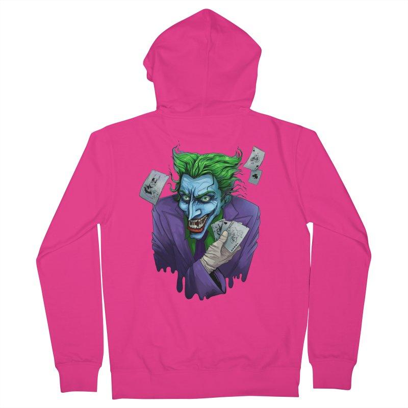 Joker Men's French Terry Zip-Up Hoody by Diana's Artist Shop