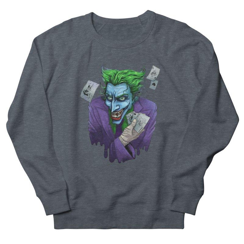 Joker Men's French Terry Sweatshirt by Diana's Artist Shop