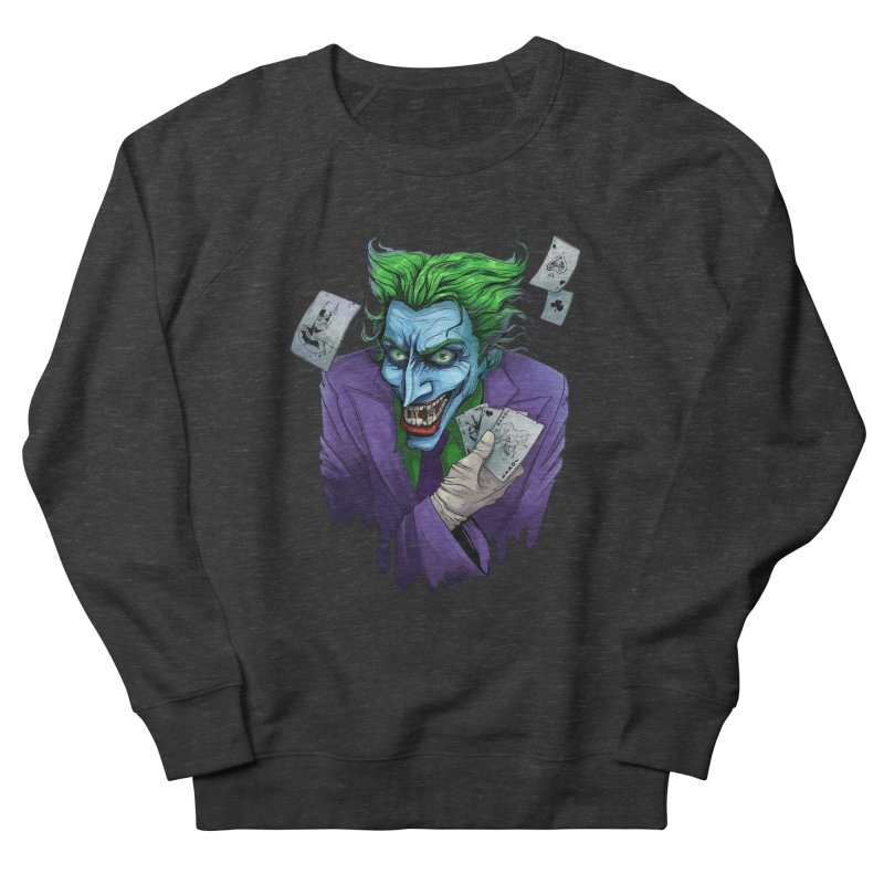 Joker Men's French Terry Sweatshirt by Diana's Artist Shop