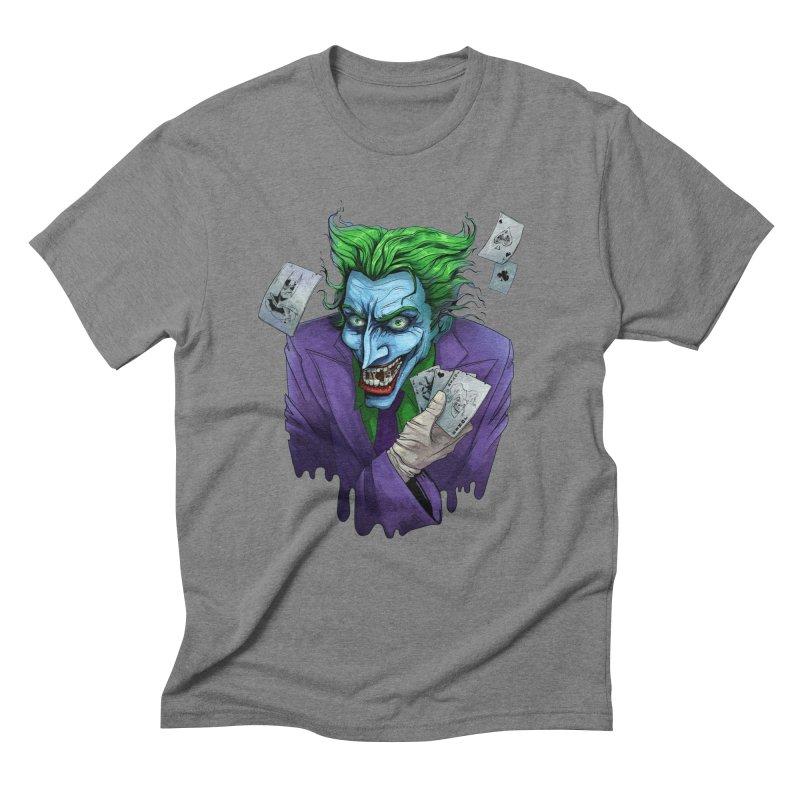 Joker Men's Triblend T-Shirt by Diana's Artist Shop