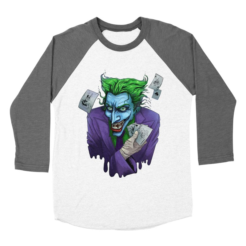 Joker Women's Baseball Triblend Longsleeve T-Shirt by Diana's Artist Shop